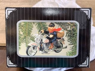 Harley davidson Motorcycles Christmas Ornament  letters To Santa  1997 In Box