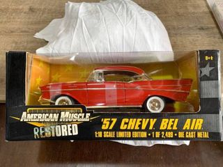 Ertl American Muscle 1957 Chevy Bel Air Red 1 18 limited Edition Of 2 499