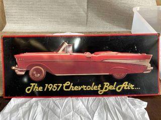 Metal 57 Chevrolet Bel Air Sign