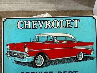 Metal Sign  Chevrolet
