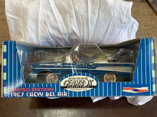 Gearbox 1957 Chevy Bel Air Chain Driven Diecast Model Pedal Car Money Box  Boxed