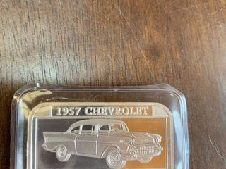 1 ounce of  999 silver coin 57 chevy Bel Air