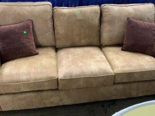 Tan Color Sofa With Sun Fading 84x37x31