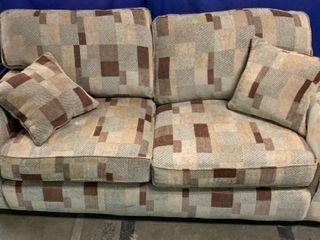 Brown Tone Love Seat 79x37x32