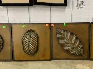 6 Metal Leaf Decor 15x15, 9x23, 9x18
