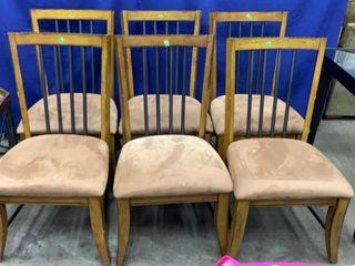 6 Nail Head Trim Dining Chairs