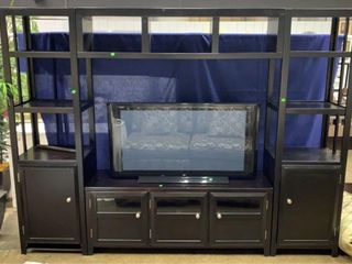 4 Piece Tv Media Shelf With Turbo Props Fake Tv