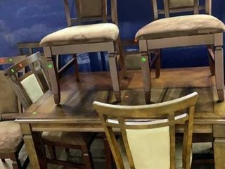 Table And 8 Chairs Cushion Have Sun Fading Folding
