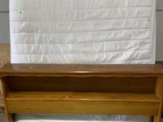 Wooden Full Headboard 55x7.5x35, Frame, Mattress
