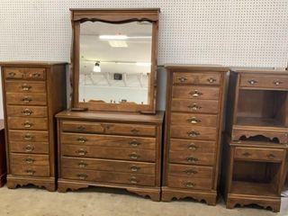 Dresser 40x17.5x31, Mirror 34x5x40, Pair Of Tall