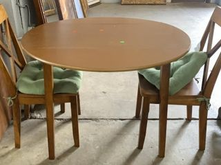 Drop Leaf Dining Table 40x30 And 2 Dining Chairs