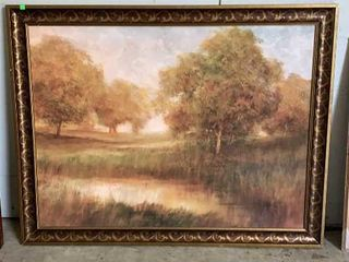 Large Framed O/b Painting 54x42