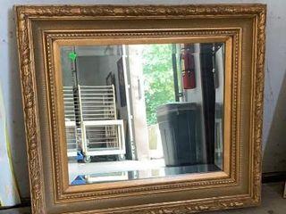 Gold Framed Beveled Mirror 34x3.5x30
