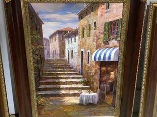 Framed Signed O/c See Photo For Signature 35x47