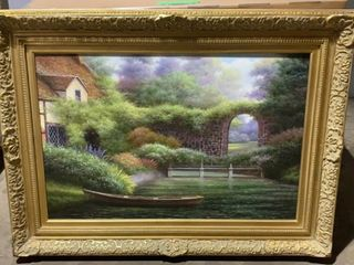 Framed And Signed Painting 46x34 See Photos