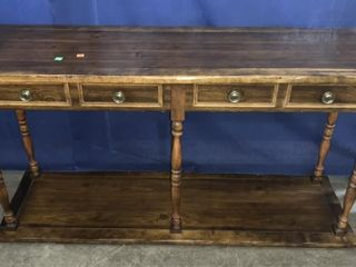 Wooden Entry Table 52x18x27, Fake Drawers