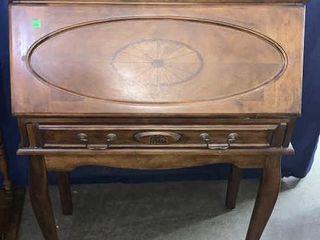 Fold Out Wooden Secretary Desk 32.5x16.5x32