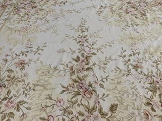 Large French Aubusson Floral Pattern Carpet