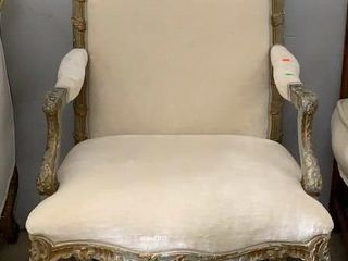 Gold Leafed Carved Arm Chair 29x28x43