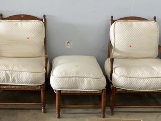 Pair Of Country French Arm Chairs And