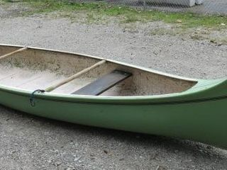 Green Canoe Approx. 16 Ft. X 9 Inch