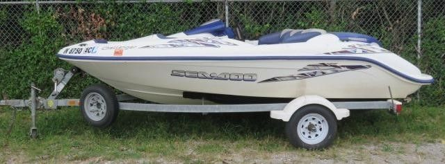 2001 Bombardier Sea Doo Runabout Boat