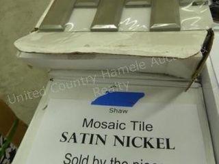 Shaw mosaic tile - satin nickel - 99 pcs.