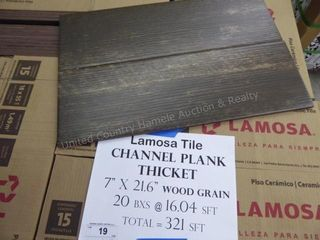 Lamosa tile - channel plank thicket - 321 sq ft