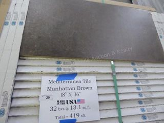 Mediterranean tile - Manhattan brown - 419 sq ft