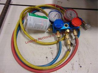 set of refrigerant gauges