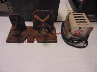Shaler auto tire repair clamp   schauer lamp