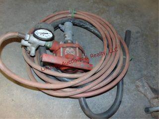 Red line pto sprayer pump w  hose  Froze up