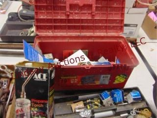Tool box w  misc contents  SEE PICS