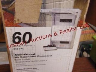 60amp 240vac non fused air conditioner disconnect