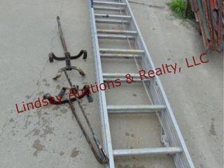 24  alum ext ladder w  jacks