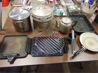 12pcs kitchen items  pots  skillets  strainer