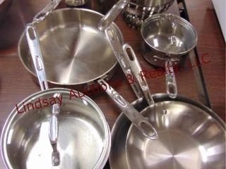 7 pcs Emril pots  pans   a strainer