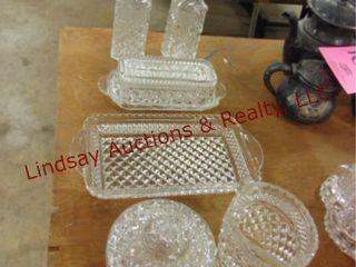 6 pcs clear glass SEE PICS