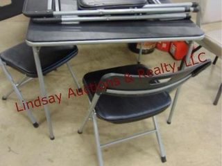 Folding card table w  4 chairs  like new