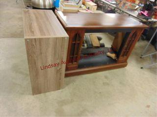Gray shelf 30 x 15 x 30   wood cabinet for elec