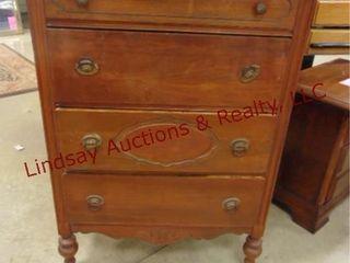 wood 4 drawer dresser 32 x 16 x 48