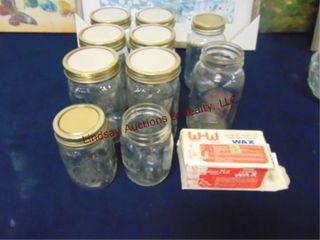 11pcs  canning jars   wax block