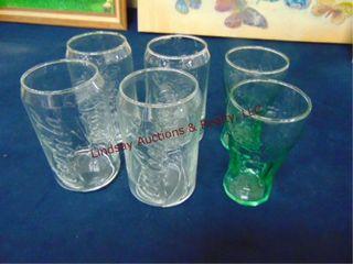 6 pcs Coca Cola glass cups