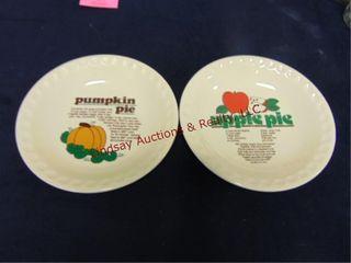 Pumpkin   apple pie dishes
