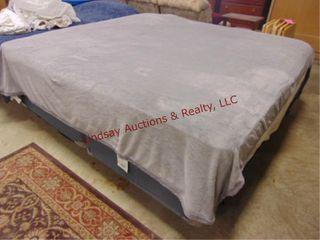 KIng size mattress  box springs  frame