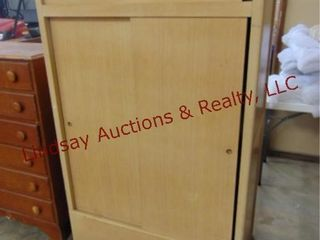 Wood wardrobe cedar lined closet 40 x 23 x 67