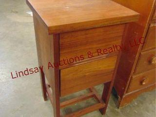 2 drawer handmade wood nightstand 16 x 15 x 29