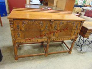 4 drawer wood buffet 54 x 19 x 38