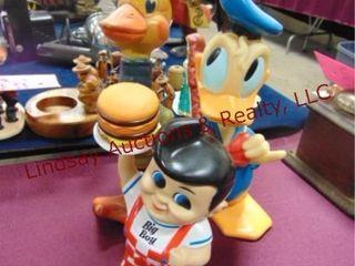 3pcs vintage toys  duck  donald duck  big boy