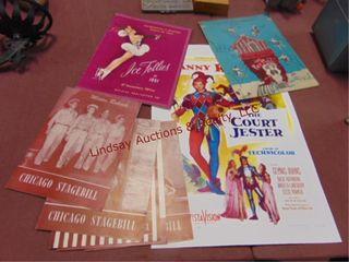 Approx 8 vintage advertising programs